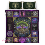 Wicca - Pagan Witch Tree of Life, As Above, So Below Bedding Set 176
