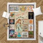 April Girl Hippie Sherpa Blanket 330