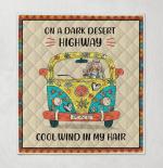 Hippie - On A Dark Desert Highway Quilt Blanket 328