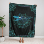 Dragonfly They Whisper To Her Fleece Blanket 329