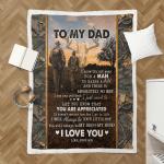 Son To Dad Deer Hunting Sherpa Blanket 310