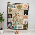 April Girl Hippie Fleece Blanket 330