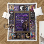 Wicca - To my Daughter, Put On Your Hat Witch Sherpa Blanket 332