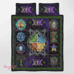 Wicca Fire - Earth - Water - Air Quilt Bed Set 042