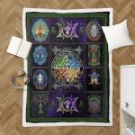 Wicca Fire - Earth - Water - Air Sherpa Blanket 042