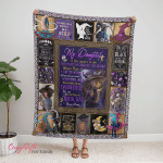 Wicca - To my Daughter, Put On Your Hat Witch Fleece Blanket 332