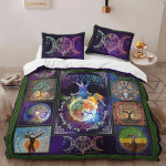 Wicca Fire - Earth - Water - Air Bedding Set 042B