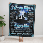 To My Wife, Anniversary Gifts From Husband Fleece Blanket 326
