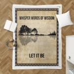 Whisper Words Of Wisdom Sherpa Blanket 339
