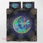 Wicca - Dragonfly Moon Quilt Bed Set 011
