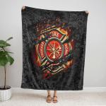Firefighter Courage Fire Honor Rescue Fleece Blanket 340