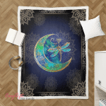 Wicca - Dragonfly Moon Sherpa Blanket 011