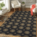 Wicca Gold Sun and Moon W024 Area Rug
