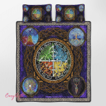 Wicca - Tree Of Life Quilt Bed Set 341B