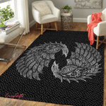 Viking Raven And Wolf  Area Rug 241