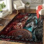 Spirit Of A Vikings, Heart Of A Wolf Area Rug 165