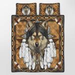 Native American Wolf Spirit 342 Quilt Bed Set