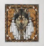 Native American Wolf Spirit 342 Quilt Blanket