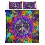 Purple Flower Hippie Bedding Set 344