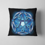 Wicca Pentacle in Blue W023 Pillow Case Cover