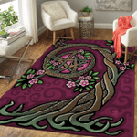 Wicca Tree And Pentacle W038 Area Rug