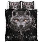 Native American Wolf 349 Bedding Set