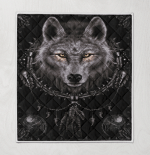 Native American Wolf 349 Quilt Blanket