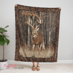 Deer Hunting 390 Fleece Blanket