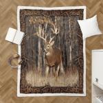 Deer Hunting 390 Sherpa Blanket