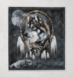 Native American Wolf 346 Quilt Blanket