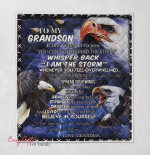 To My Grandson. I'm Proud Of You. Eagle Quilt Blanket 392