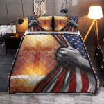God - Bible With Bright Cross 143 Quilt Bed Set