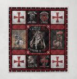 The Knights Templar god Warrior 115 Quilt Blanket