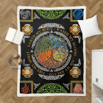 Wicca tree Of Life Element 406 Sherpa Blanket