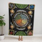 Wicca tree Of Life Element  406 Fleece Blanket