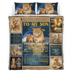 To My Son. When God Made Son 402  Bedding set