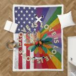 Love Is Love Pride Hippie American 409 Sherpa Blanket