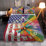 Love Is Love Pride Hippie American 409 Quilt Bed Set
