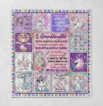To My Granddaughter, I Love You So Much 400 Quilt Blanket