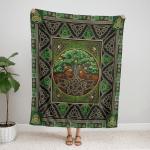 Wicca CelticTree Of Life 028 Fleece Blanket