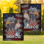 One nation under god eagle Flag