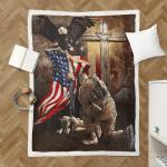 Lest We Forget American Memorial 414 Sherpa Blanket