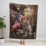 Lest We Forget American Memorial 414 Fleece Blanket