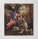 Lest We Forget American Memorial 414 Quilt Blanket