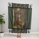 Deer Hunting 419 Fleece Blanket