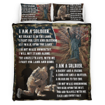 Veteran's Day. I am a Soldier 425 Bedding set