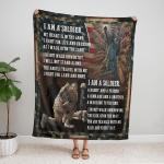 Veteran's Day. I am a Soldier 425 Fleece Blanket