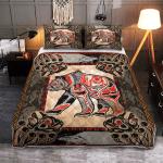 Native Bear Tattoo 421 Quilt Bed Set