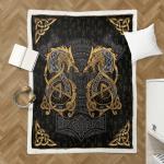 Viking Fenrir Wolf 419 Sherpa Blanket
