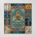 Yoga Namaste Mandala Style 405 Quilt Blanket